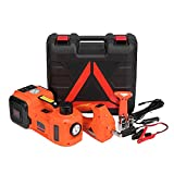 SPECSTAR Electric Car Jack 5 Ton 12V Electric Hydraulic Jack Lift for Car with Automatic Impact Wrench for SUV MPV Sedan Truck Change Tires Garage Repair