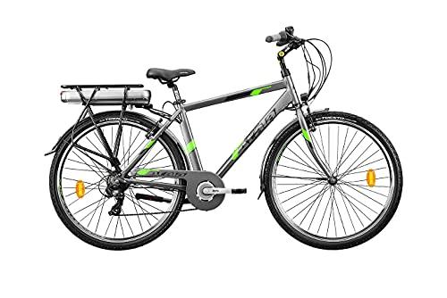 Modelo Atala 2021 - Bicicleta de trekking eléctrica E-Run 7.1 ant/verde con...