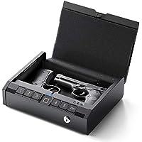 Aseline Smart Gun Safe with Biometric Fingerprint and Key Lock (Black)