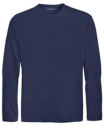 DRI-EQUIP Youth Long Sleeve Moisture Wicking Athletic Shirts. Youth Sizes XS-XL, True Navy, Small