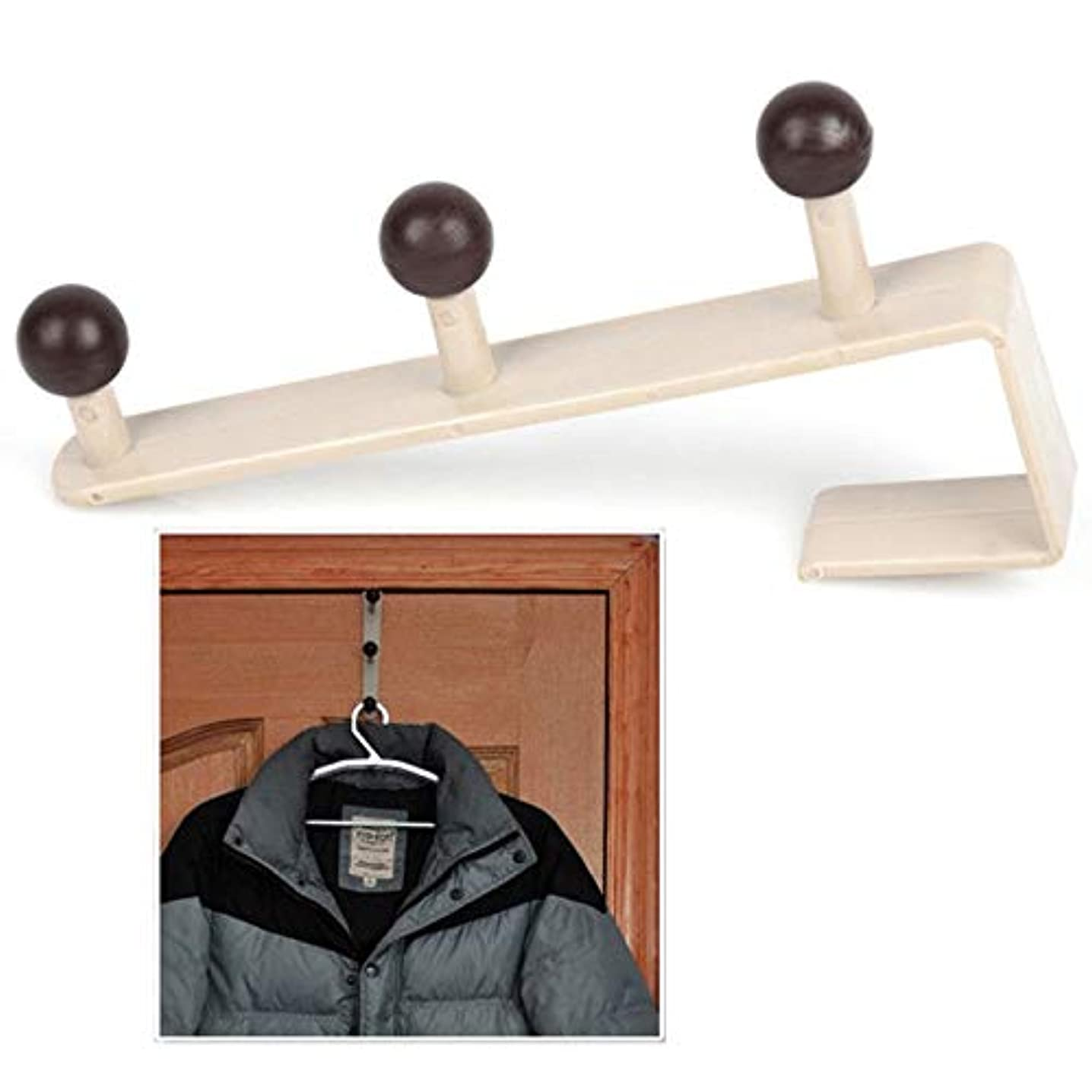 Agordo Over The Door Hanger Hooks Rack for Coat Hat Bags Clothes Towel Home Bathroom