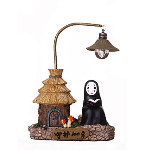 Enérgico Lejos No Face Man Night Light Chi a Chihiro Escritorio De Mesa Lámpara Miyazaki Hayao Anime Kaonashi Niños Regalo De Los Niños De Juguete Decoración Del Hogar Artesanal Lámpara De Dormir