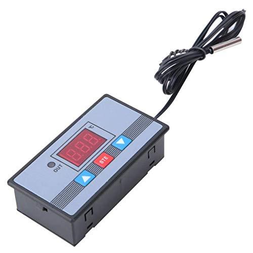 Controlador de temperatura Interruptor de termostato digital Pantalla digital de rendimiento estable de alta precisión con protección de conexión inversa para(DC24V)