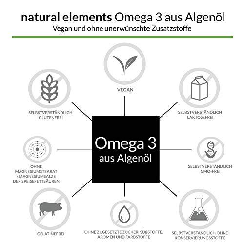 Omega 3 vegan - Premium: Mit EPA und DHA aus Algenöl (in Triglycerid-Form) - Laborgeprüft, nachhaltig und von Natur aus schadstoffarm - 90 Kapseln - 2