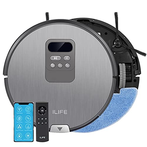 ILIFE V80 Pro Robotic Dry & Wet Vacuum, Mapping, WiFi, 2000Pa Max Suction,Self-Charging,Path Pattern,Multiple Cleaning Mode, Alexa & Google Home