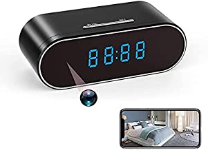 TRE 1080P Hidden Camera Clock | Spy Camera Clock | WiFi Video Recorder Wireless IP Camera for Indoor Home Security Monitoring Night Vision Nanny Cam 120°Angle Motion Detection