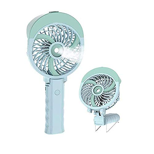 QIYUE Met Color Flash, Portable Spray Fan, Mini Folding Handheld Electric Personal Fan, 2000-4600mAh oplaadbare batterij-aangedreven Ventilator, USB Water Spray Fan, geschikt for Office/Home/Outdo