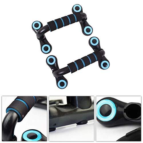 JHSHENGSHI Push-Up-Unterstützung/U-förmige Heim-Fitnessgeräte für Männer und Frauen/Armtraining Brustmuskel Hilfsstütze Rahmen/Robust und solide, blau, 24 * 15 * 13 cm für Ho