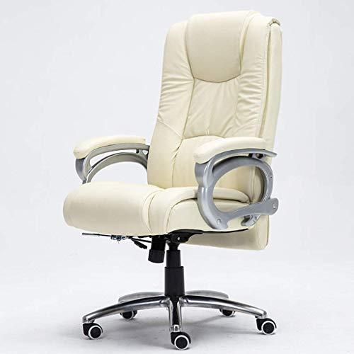 PLEASUR Stühle Sofas Leder Home Computer Stuhl Office Boss Ledersessel Arbeitszimmer Massagestuhl Wohnzimmer Lift Sessel Schwarzer Computer Stuhl Boss Stuhl