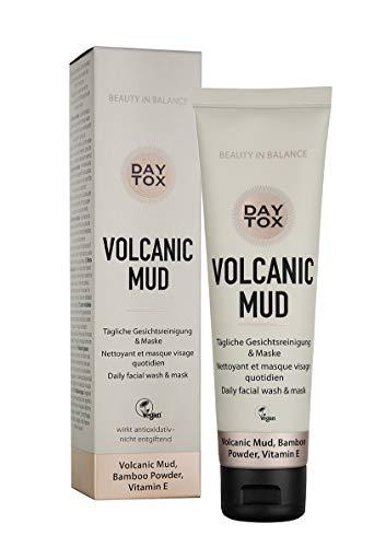 DAYTOX - Volcanic Mud - Tägliche Gesichtsreinigung & Maske - 2 in 1 Reinigungsschaum und Reinigungsmaske - Vegan, ohne Farbstoffe, silikonfrei und parabenfrei - 100 ml