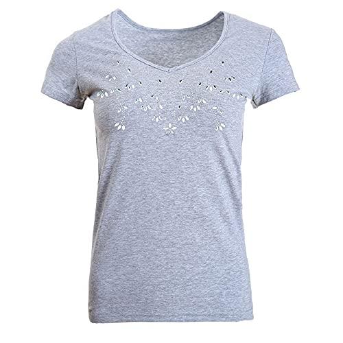 Tops Mujer Verano Comodidad Impresión Generosa Mujer Camisa Diseño Elegante Exquisito Movimiento De Trabajo...