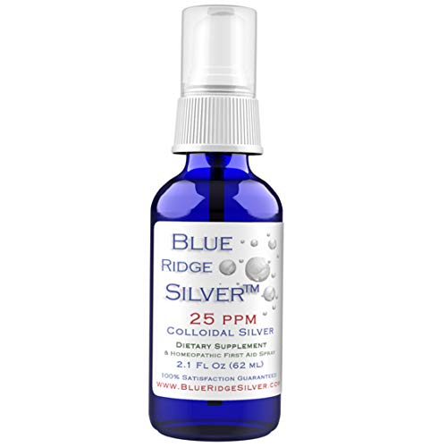Blue Ridge Silver 25 ppm, 2 oz Fine Mist Colloidal Silver Spray