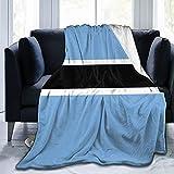 Flanelldecke mit der Flagge von Botswana, flauschig, bequem, warm, leicht, weich, Überwurf für Sofa, Couch, Schlafzimmer