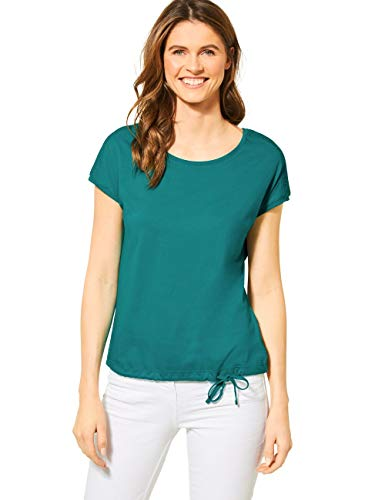 Cecil Damen 314828 Solid Smock Shoulder Trägershirt/Cami Shirt, vital Emerald Green, X-Large