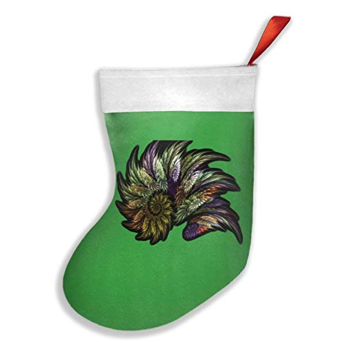 633 Swirl 16.5' Christmas Stocking Classic Family Holiday Christmas Party Decoration