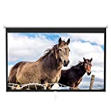 Projector Screen 100 Inch 16:9 - Auto-Locking Portable Projection Screen for 4K 3D