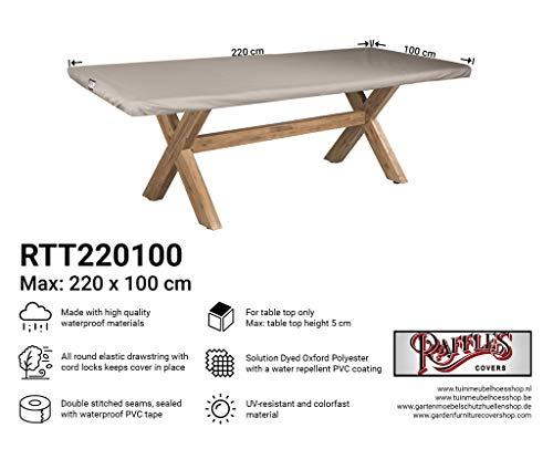 Raffles Covers NW-RTT220100 Abdeckung für eine Tischplatte 220 x 100 cm Gartentisch Tischplatten Abdeckung, Tischplattenhaube