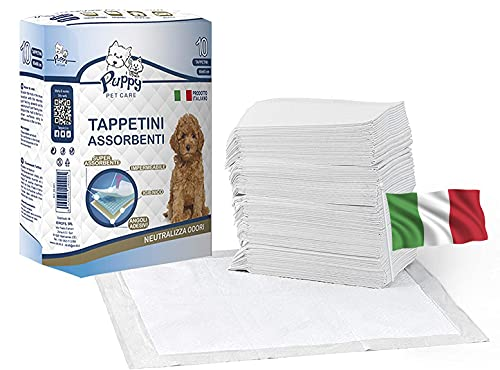 cubex professional® Tappetini traversine igienici assorbenti per Animali Domestici con Adesivo ed Anti Odore.