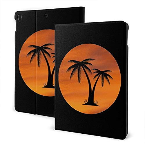 Case for iPad Palm Tree PU Leather Business Folio Shell Cover with Stand Pocket and Auto Wake/Sleep for iPad Air 10.5'