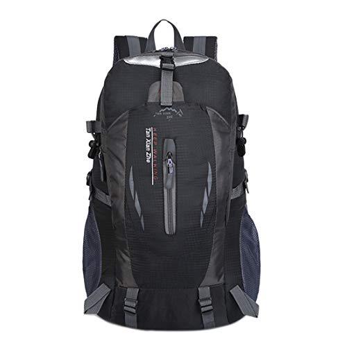 N/A Outdoor-Bergsteigertasche, große Kapazität, Rucksack für Männer und Frauen, Outdoor-Sport-Reise-Rucksack, Wochenend-Reise, mehrere Farben Schwarz
