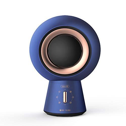 Calefactor eléctrico Calentador de oficina Home Desktop Mini Portátil Calentador de almacenamiento [enfriamiento y calefacción Ajustable de 6 velocidades] Calentador de escritorio Calentador Portable
