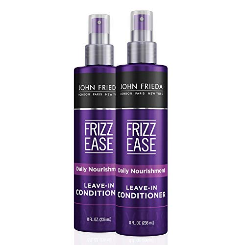 John Frieda Frizz Ease Daily Nourishment Conditioner, Leave-in Conditioner for Frizz-prone Hair, 8 Ounce (Pack of 2), with Vitamin A, C, and E
