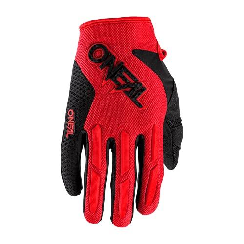 O'NEAL | Fahrrad- & Motocross-Handschuhe | MX MTB Downhill Freeride | Langlebige, Flexible Materialien, luftdurchlässige Mesh-Einsätze | Element Glove | Erwachsene | Rot | Größe M