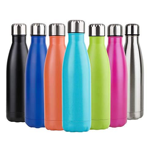 Hotchy Edelstahl Trinkflasche, Vakuum Isolierte Thermosflasche, BPA Frei 750ml Wasserflasche Auslaufsicher Thermoskanne für Kinder, Schule, Sport, Outdoor, Fahrrad, Fitness, Camping - Blau