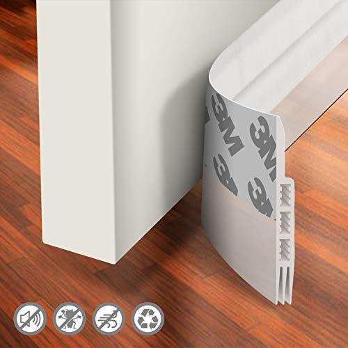 Holikme Door Draft Stopper Under Door Draft Blocker Insulator Door Sweep Weather Stripping Noise Stopper Strong Adhesive 39