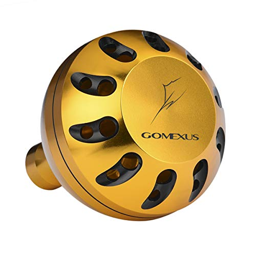 Gomexus Manopola Mulinello per Shimana Biomaster SW 4000-10000 Twin Power SW 5000-14000 Mulinello Pomello Diretto, Daiwa BG Penn Spinfisher Spinning Perforazione 45mm Metallo