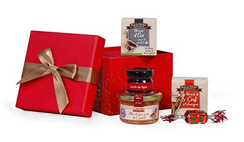 """Coffret cadeau """"Surprise gourmande"""" contenant 1 bloc de foie gras de Canard"""