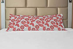 21 INCHES WIDE x 54 INCHES LONG - Decorative pillow sham, INSERT IS NOT INCLUDED. MADE IN TURKEY. MADE FROM - 100% Brushed microfiber fabric. Super soft for ultimate comfort & a good night's sleep. FEATURES - Crisp colors and vivid print. Hidden zipp...