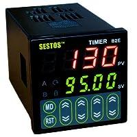 SESTOS ディスプレイタイマ デジタルタイマー 2リレー NPN / PNPの切り替え サイクルタイム 110V B2E-2R-220