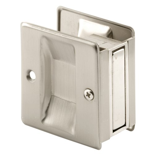 Prime-Line Products N 7238 Prime-Line Pocket Door Handle And Pull, 2-1/2 In L X 1-3/8 In W X 2-3/4 In D, Solid, Satin Nickel Plated, x x