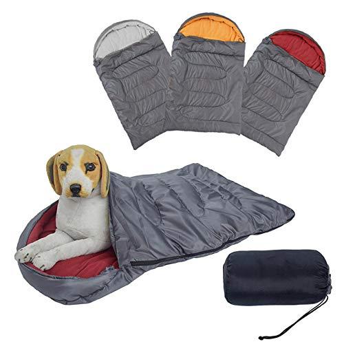 LLSL Bolsa de Dormir de Perro Grande Impermeable, Cama para Mascotas, a Prueba de Agua y Resistente al Desgaste, cálido, Cama de Mascota portátil Multifuncional,Rojo