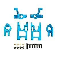 #N/A RCメタルステアリングUpadeパーツに1 / 12WLtoys 12428 12423 FY01 / 02 / 03RC - 青い, 56x31.7x4mm