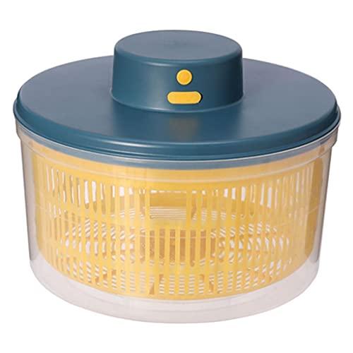 Fenteer Conveniente centrifugadora eléctrica para ensaladas, secadora de verduras recargable, almacenamiento de secado rápido, secado por centrifugación, Azul