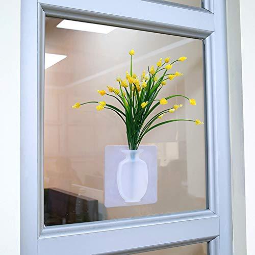 SUREH - Jarrón de Flores de Silicona extraíble,