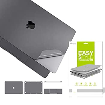 VFENG Premium 6 in 1 3M Vinyl Skin Palm Rest Cover Decals for MacBook Air 13.3 Inch 2020+ Model  A2179/A2337  and 2018+  Model  A1932  with 2PACK Screen Protector-Gray