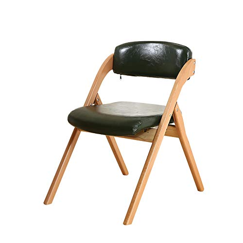 XIAOQIAO Modern Wooden Dining Chairs Foldable Living Room Corner Chair, Comfortable and Soft Cushion Filled with High Resilience Sponge