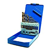S&R Metal Drill Bit Set 1-6,5mm, 13 Piece, HSS Cobalt DIN 338, Polished