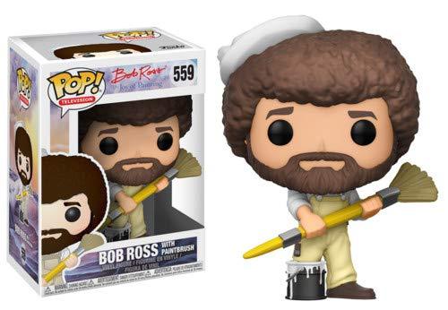 Funko POP! TV: Bob Ross - Bob Ross in Overalls Collectible Figure,Multi-colored