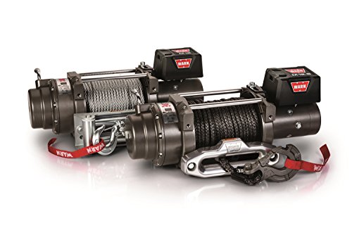 WARN 97720 M12-S Electric 12V Heavyweight Winch with Spydura Synthetic Cable Rope: 3/8' Diameter x 100' Length, 6 Ton (12,000 lb) Pulling Capacity