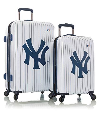 Heys America New York Yankees Officially Licensed Unisex Expandable Spinner Luggage Set