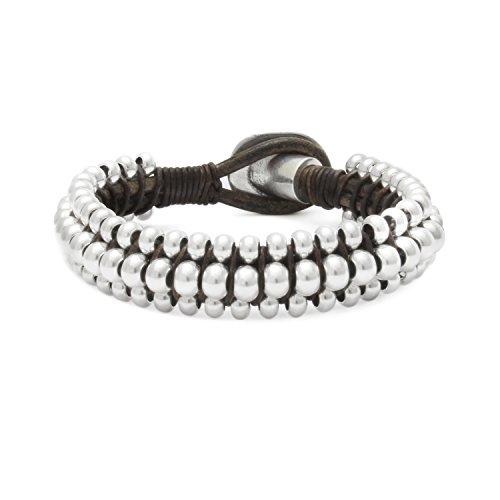 Beau Soleil Jewelry Lederarmband Armband in Braun oder Schwarz und Verschiedene Größen wählbar Lederschmuck Damen Herren