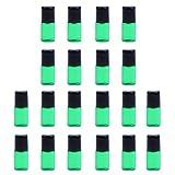 20x Botellas de Aceite Esencial de Vidrio Laboratorios Maquillaje Mini encaje Bolsillo - Verde 2ML