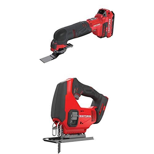 CRAFTSMAN V20 Oscillating Tool Cordless Kit with Jig Saw (CMCE500D1 & CMCS600B)
