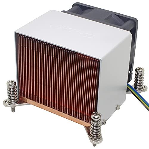 DLRSET Mini disipador de Calor, 1 unids 2U Server CPU Refrigerador de Calor del diseje de Calor para Intel Xeon LGA 1155 1156 1150 1151 Industrial Computer Workstation Active Cooling