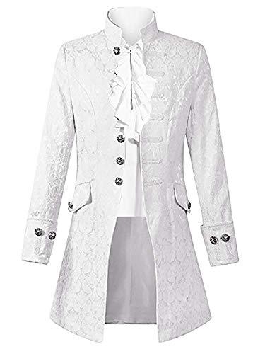 Taoliyuan Mens Steampunk Jacket Gothic Victorian Costume Medieval Renaissance Adult Cosplay Formal Coat