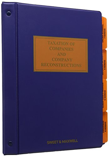 Taxation of companies and company reconstructions